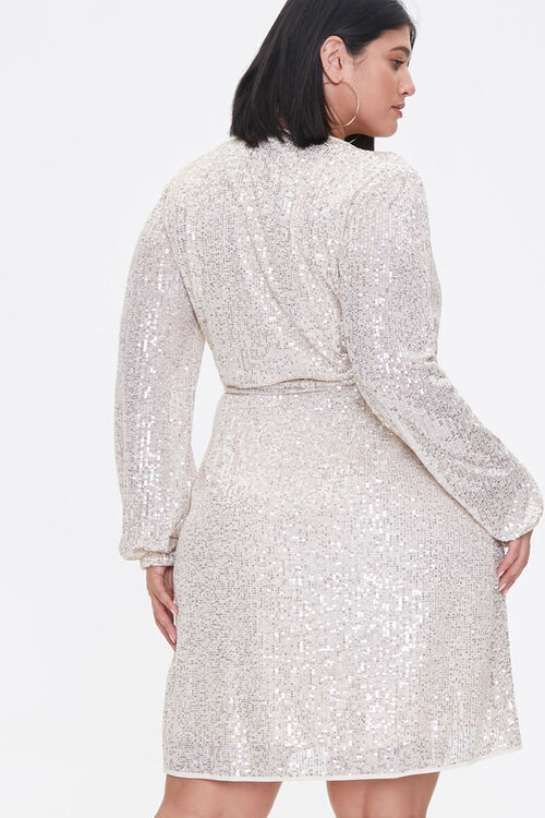 Plus Size Glittered Wrap Dress, image 3