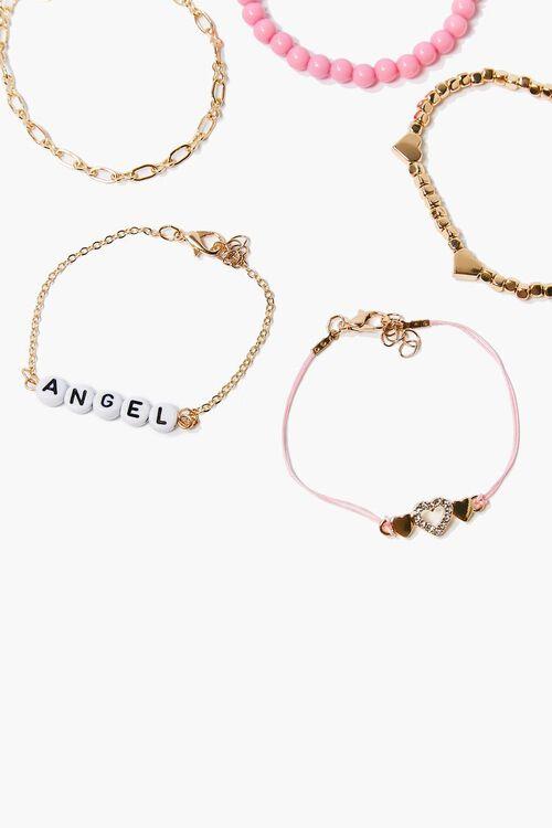 Angel & Heart Charm Bracelet Set, image 2