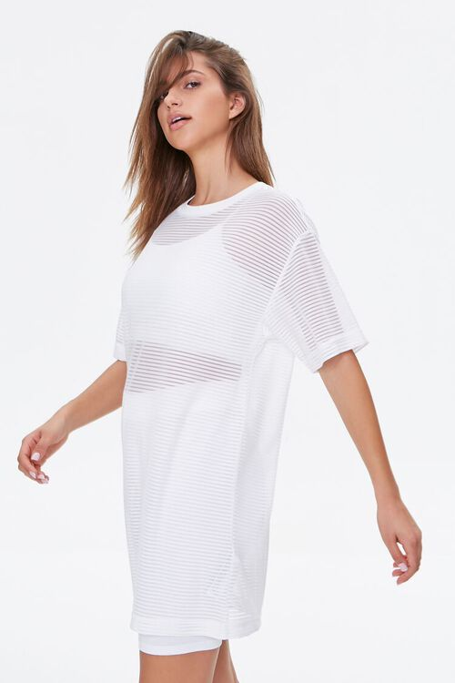 Shadow-Striped T-Shirt Dress, image 2