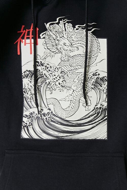Dragon Graphic Fleece Hoodie, image 6