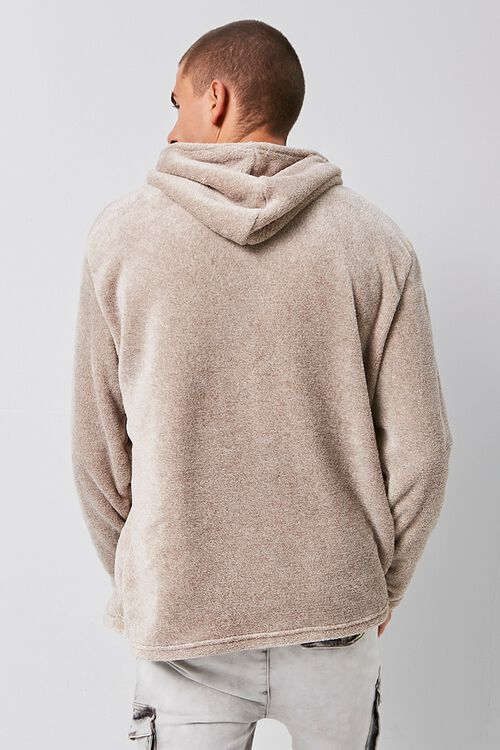 Fuzzy Marled Hooded Sweater, image 3