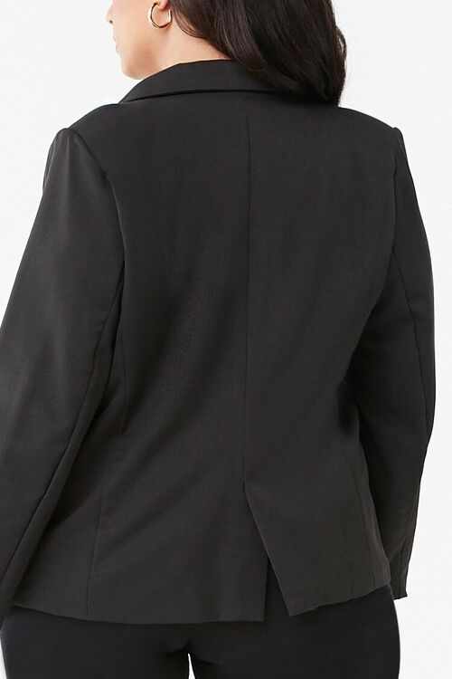 Plus Size Notched Collar Blazer, image 3