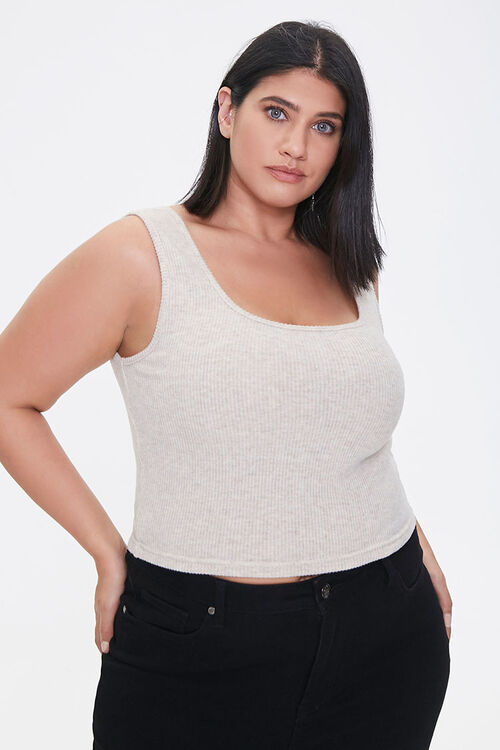 Plus Size Cropped Tank Top, image 1