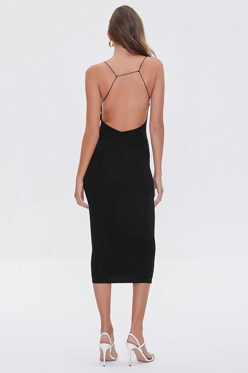 Caged-Back Bodycon Midi Dress, image 3
