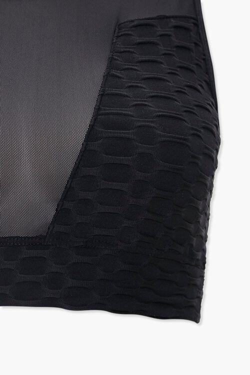 BLACK Illusion Mesh Sports Bra, image 4