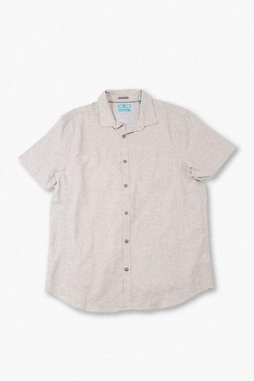 Linen-Blend Pocket Shirt, image 1
