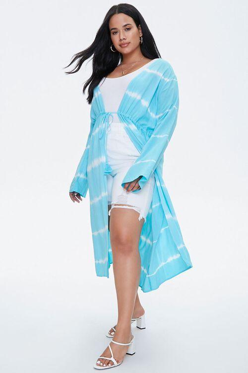 Plus Size Tie-Dye Kimono, image 4