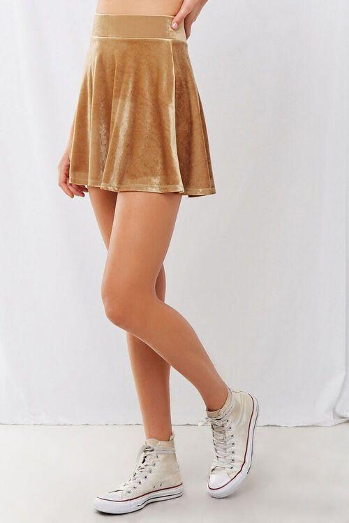 Velvet Mini Skater Skirt, image 2