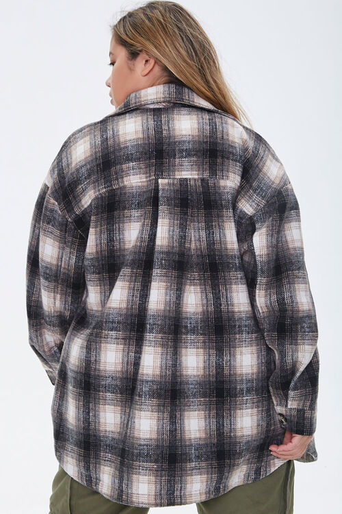 Plus Size Plaid Button-Front Jacket, image 3