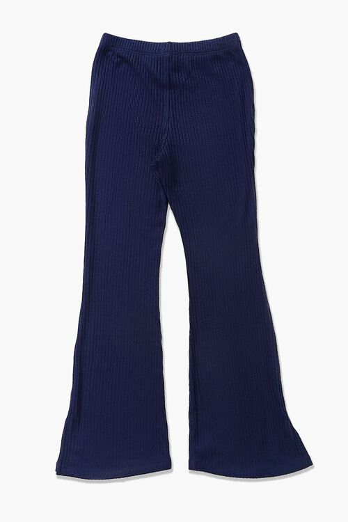 Girls Ribbed Flare Pants (Kids), image 2