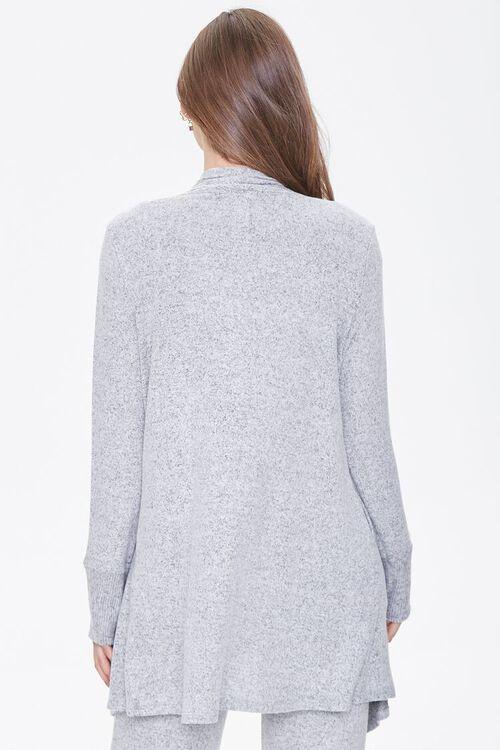 Heathered Draped-Front Robe, image 3