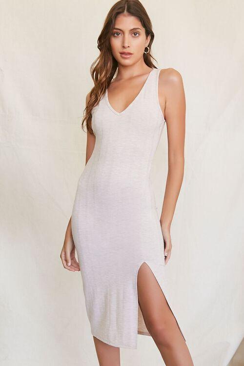 Ribbed Knit Tank Dress, image 1
