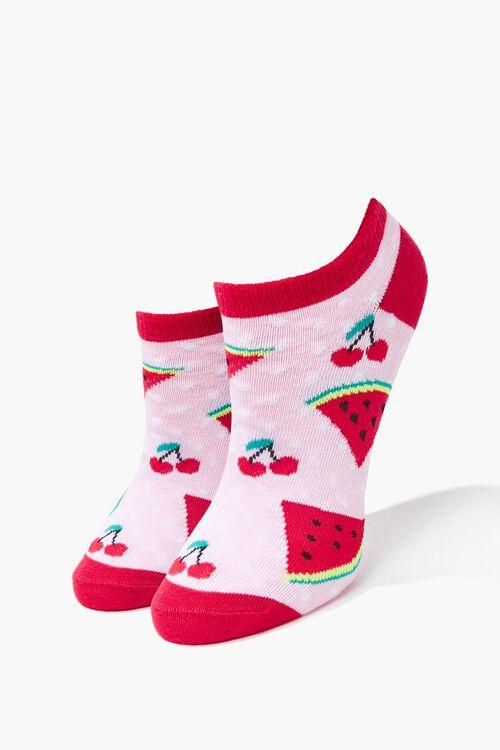 Cherry Watermelon Ankle Socks, image 1