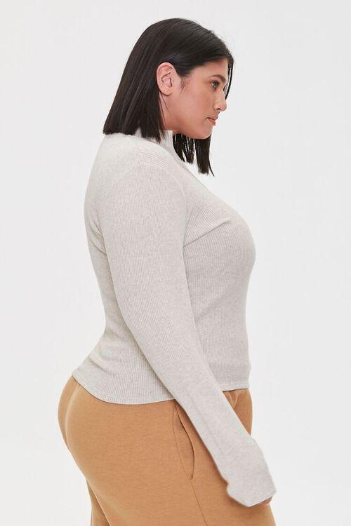 Plus Size Ribbed Half-Zip Top, image 2