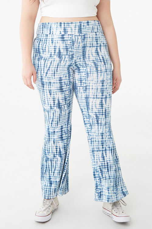 Plus Size Tie-Dye Flare Pants, image 2