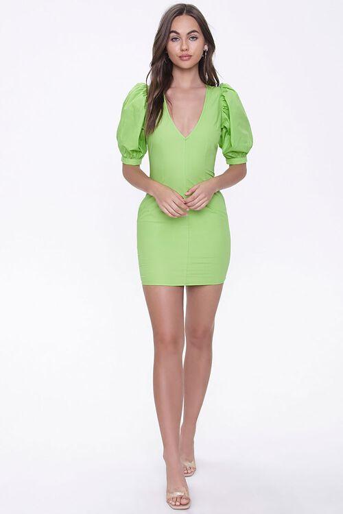 Puff-Sleeve Mini Dress, image 4