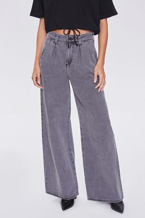 Wide Leg Denim Pants, image 2