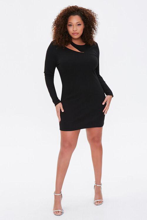 Plus Size Cutout Bodycon Dress, image 4