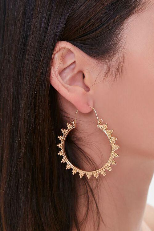 Ornate Hoop Earrings, image 1