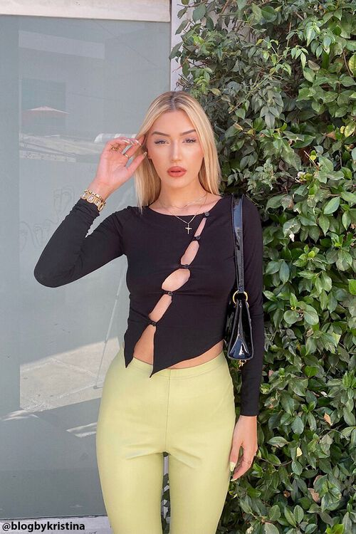 Asymmetrical Buttoned Top, image 1