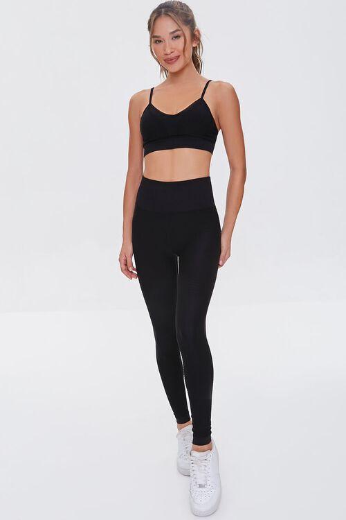 BLACK Active Seamless Leggings, image 1
