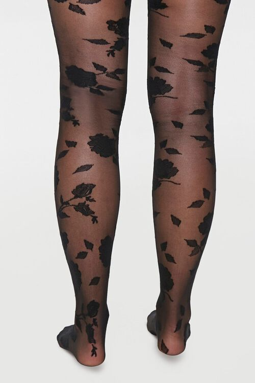 Sheer Rose Tights, image 3