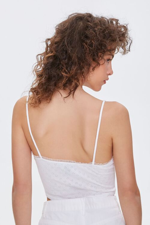 IVORY Heart Pattern Cropped Cami, image 3