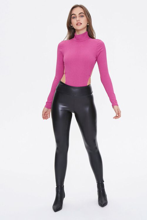 Ribbed Open-Back Bodysuit, image 4