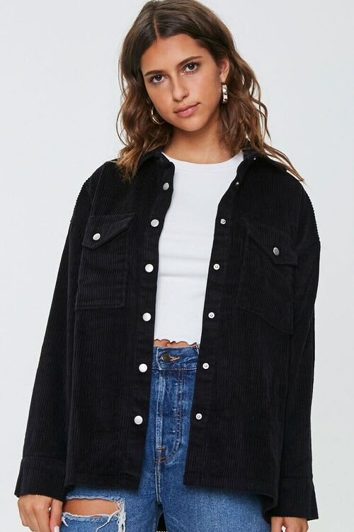 Corduroy Snap-Button Jacket, image 1