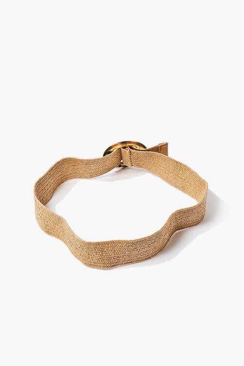 Marbled Round Buckle Waist Belt, image 3