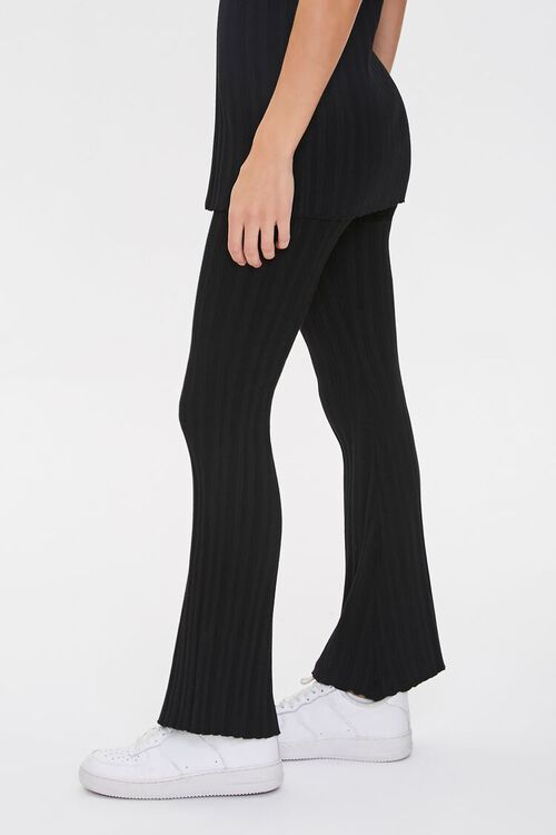 Ribbed Flare-Leg Pants, image 3