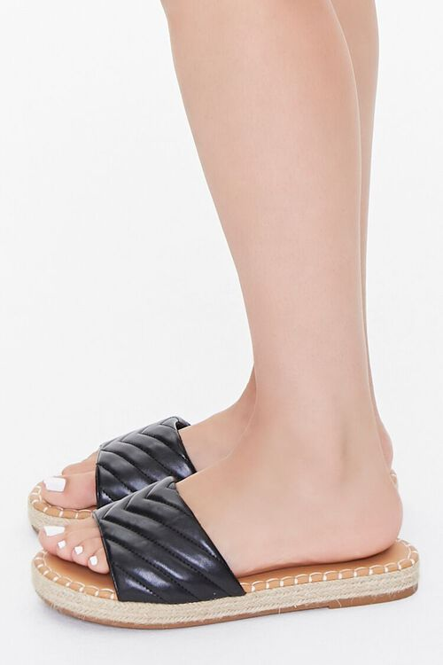 Quilted Espadrille Flatform Sandals, image 2