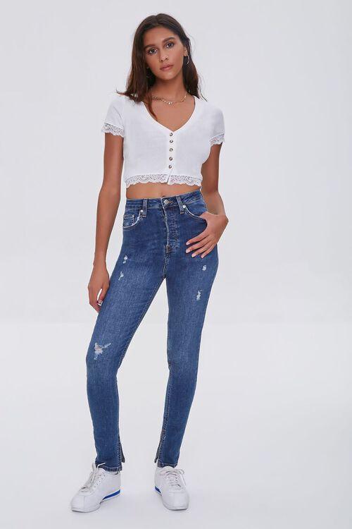 DARK DENIM Premium High-Rise Skinny Jeans, image 1