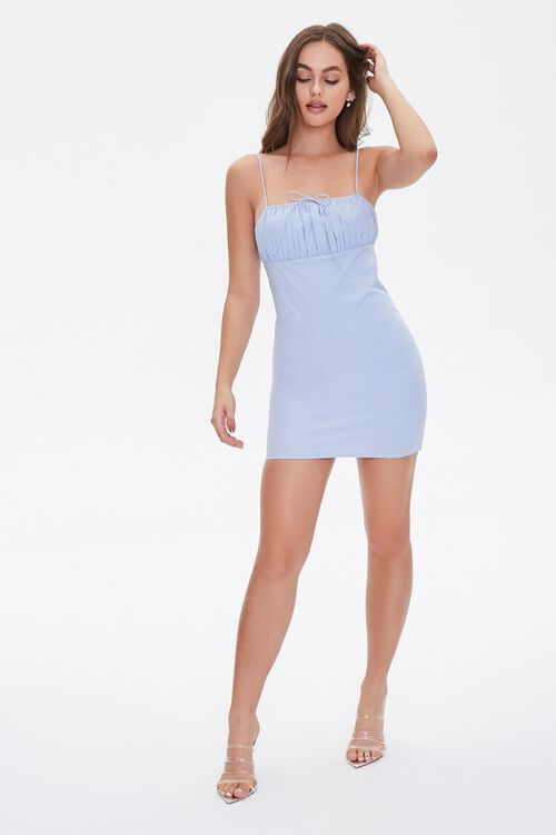 Bodycon Shirred Mini Dress, image 5