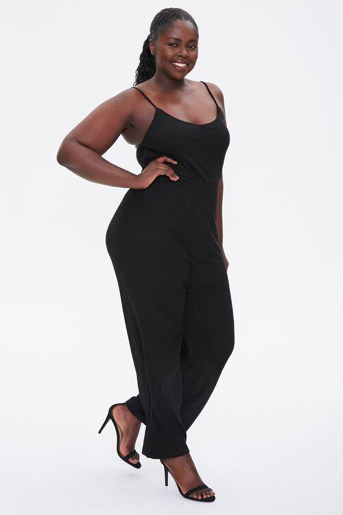 Plus Size Straight-Leg Cami Jumpsuit, image 4
