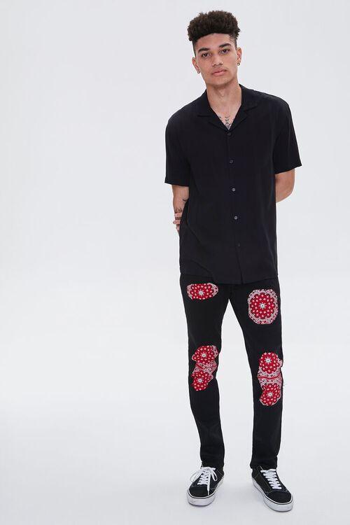 Bandana-Patch Skinny Jeans, image 5