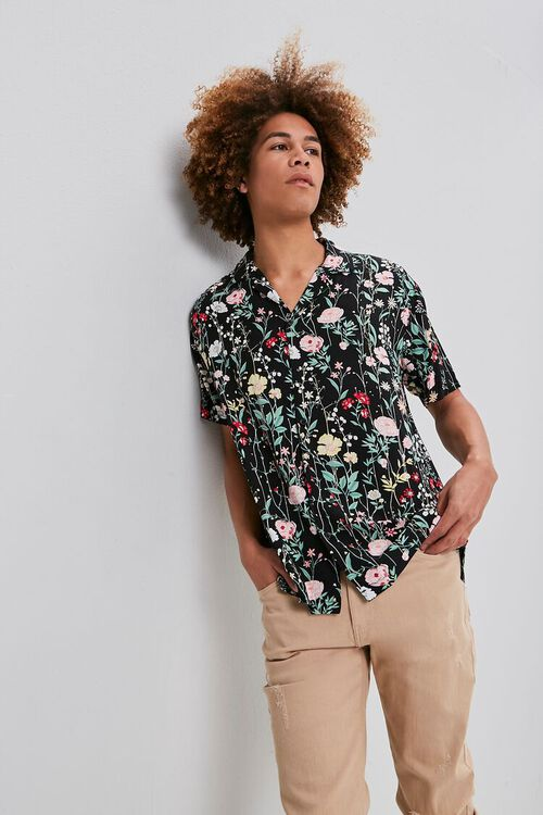 Floral Print Buttoned Shirt, image 1
