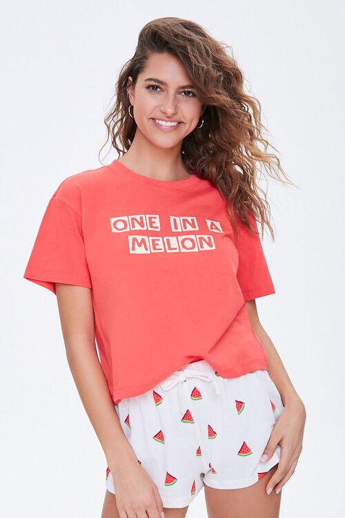 Watermelon Graphic Pajama Set, image 1