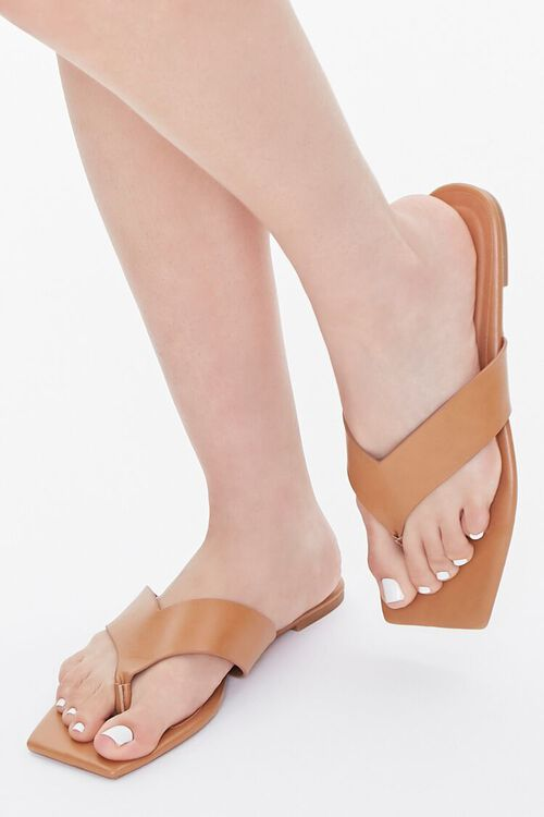 Square Thong-Toe Sandals, image 1