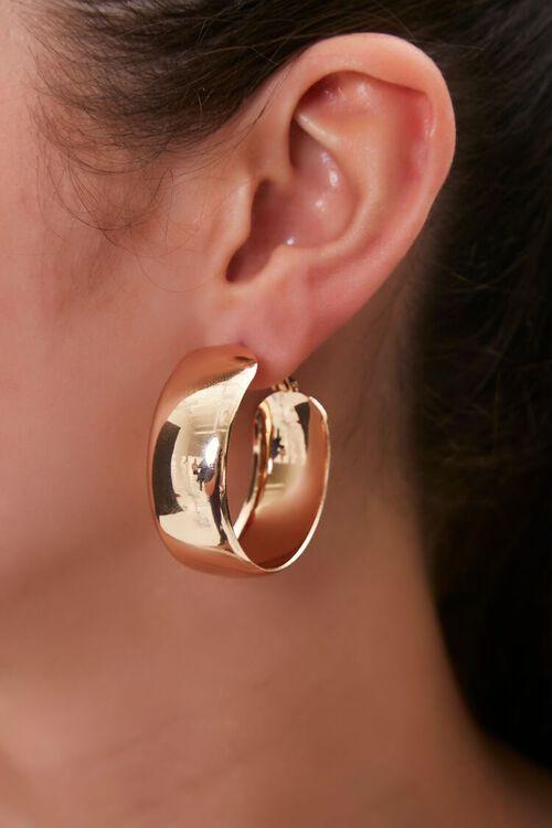 GOLD Thick Hoop Earrings, image 1