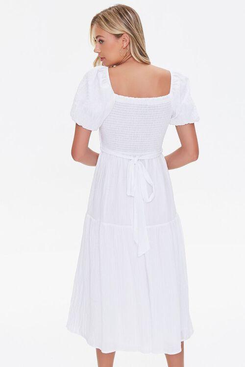 Seersucker Surplice Midi Dress, image 3