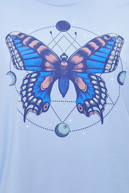 Plus Size Butterfly Graphic Tee, image 3