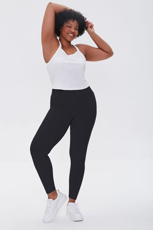 BLACK Plus Size Basic Organically Grown Cotton Leggings, image 1