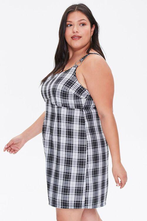 Plus Size Plaid Pinafore Dress, image 2