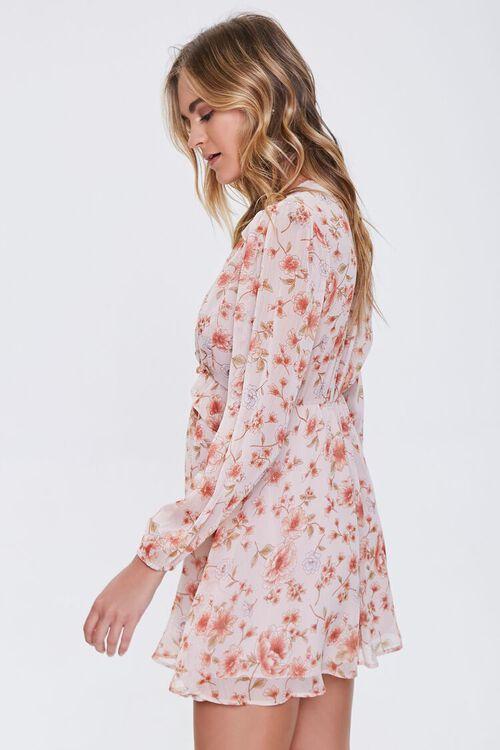 Floral V-Neck Peasant Dress, image 2