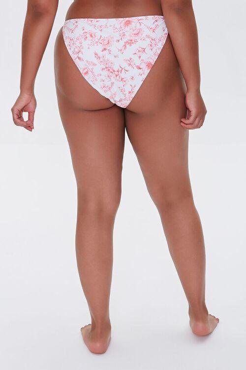 Plus Size Floral Print String Bikini Bottoms, image 4