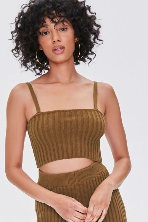 BROWN Ribbed Sweater-Knit Cami, image 5