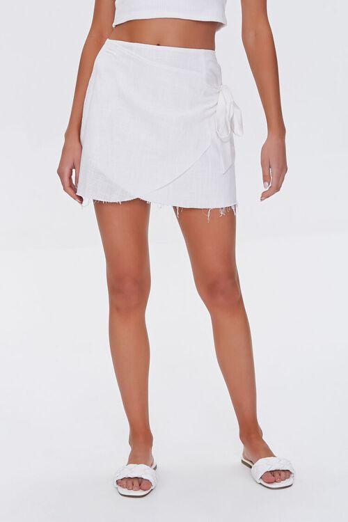 Frayed Wrap Skirt, image 2