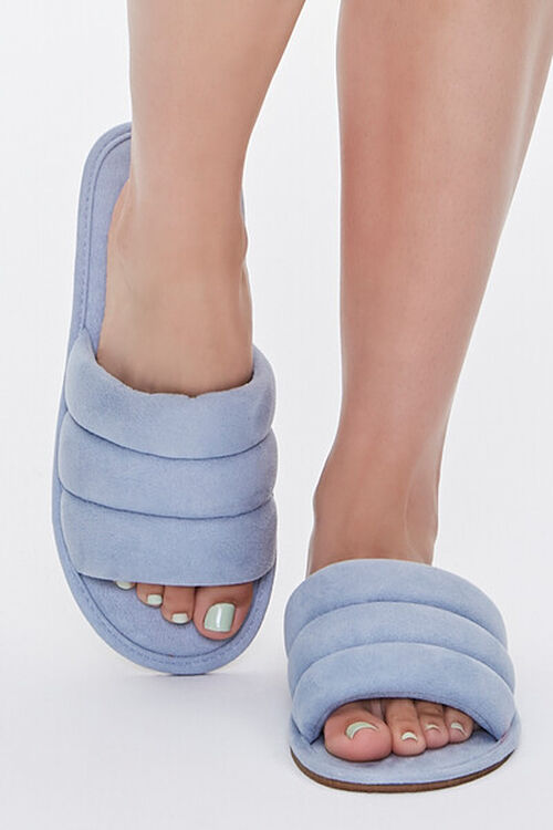 Faux Suede Quilted Slippers, image 4
