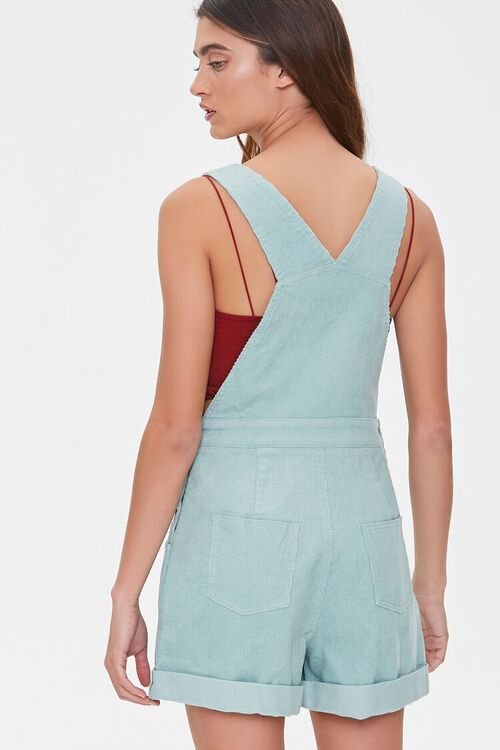 Corduroy Overall Shorts, image 3